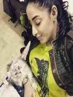 Sanam Chaudhry With her Papi