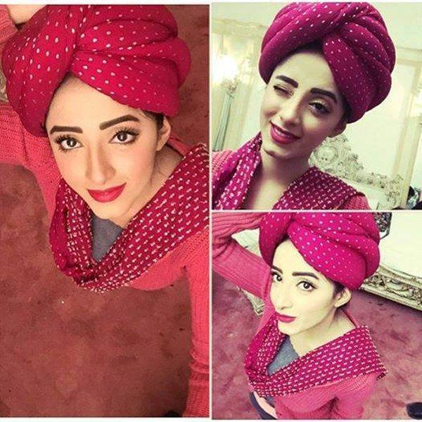 Sanam Chaudhry in Red Sexy Costume