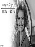 Agnes Nixon Died in 2016