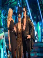 Anastacia and Brendan Cole when she was voted off Strictly Come Dancin