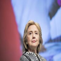 Hillary Clinton holds head high as Trump takes office