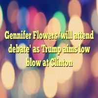 Gennifer Flowers 'agrees' to sit front row at first debate