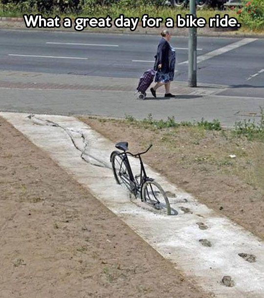 What a GREAT day for a bike ride!