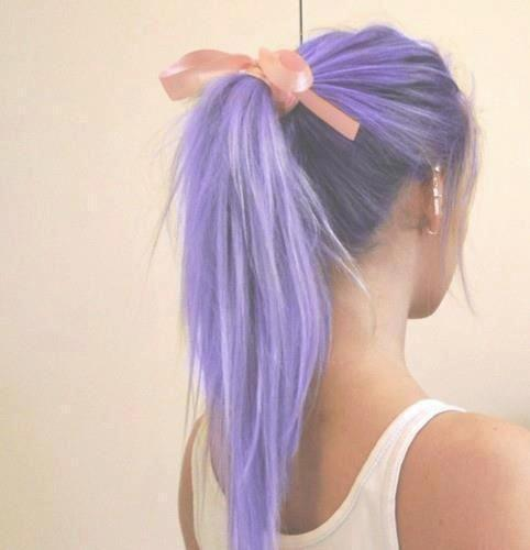 purple ponytail pink bow. For some reason I think this is absolutely a