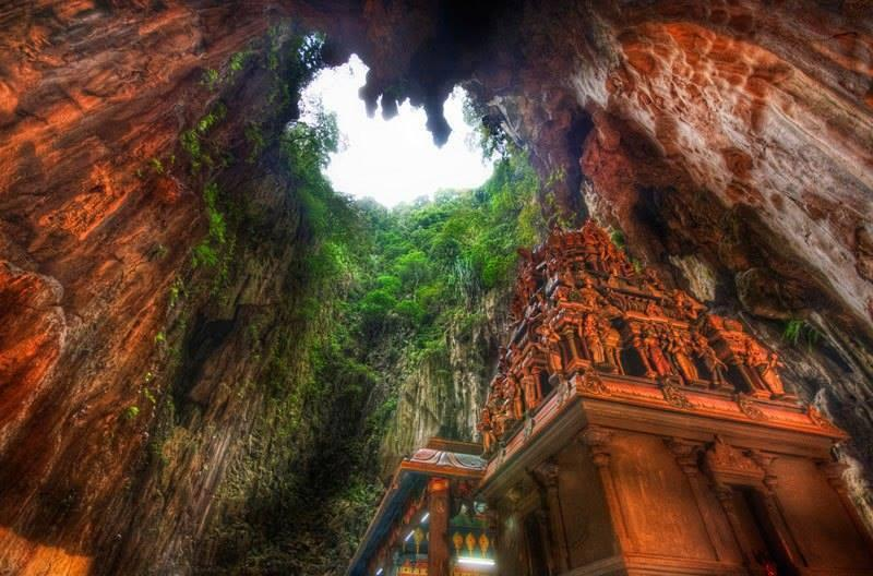 The Cathedral Temple Cave of Batu in Malaysia, Borneo. Photo by Trey R