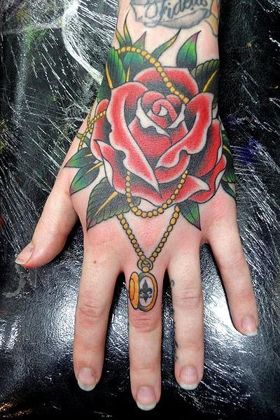 hand tattoos.. this one is pretty nice for what it is.