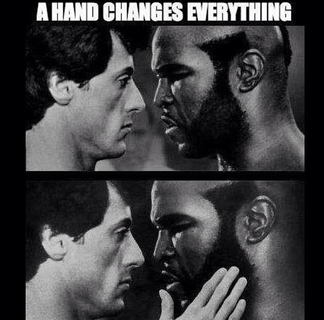 A hand changes everything