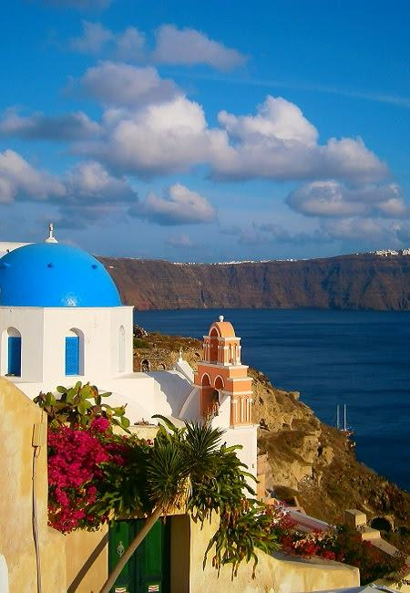 Greece Santorini island in Cyclades