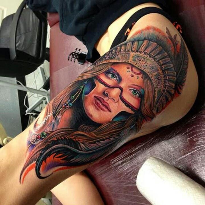 Beautiful realistic tattoo