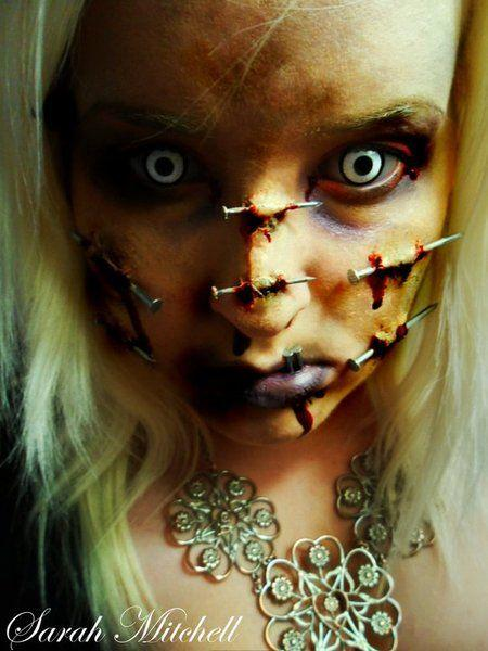 nailed. I love scary makeup, but this is on the edge for me. I think i