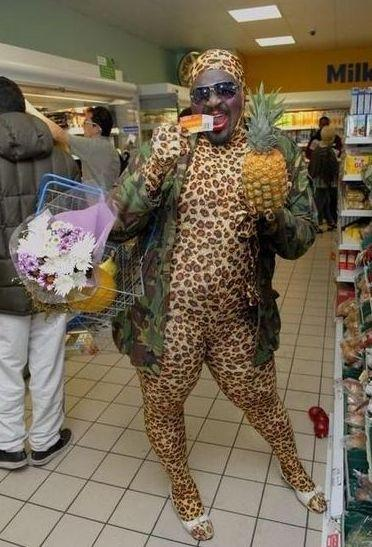 Black Camoflash Leopard Loose at Walmart