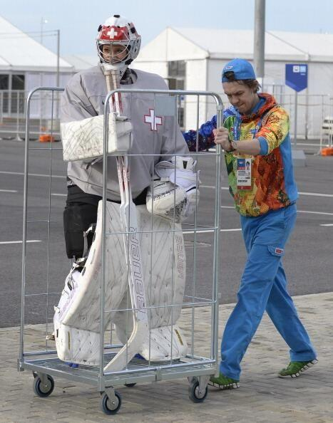 Getting the goalie to the big game in Sochi.