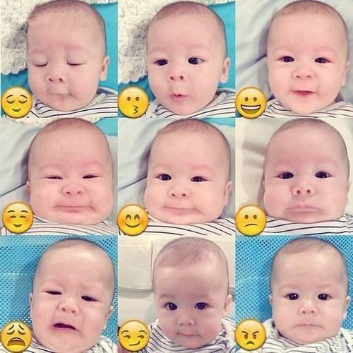 Smiley Faces Of Funny Baby