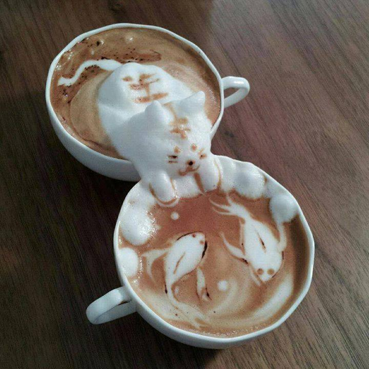 Impressive latte art by Kazuki Yamamoto