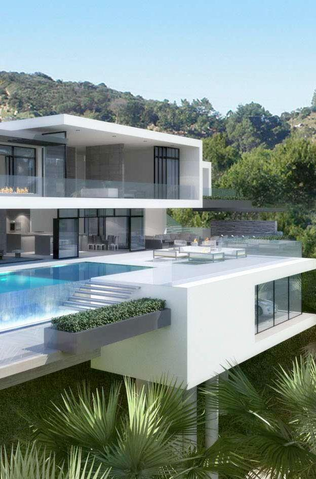 Luxury Ultramodern Mansion on Sunset Plaza Drive in Los Angeles