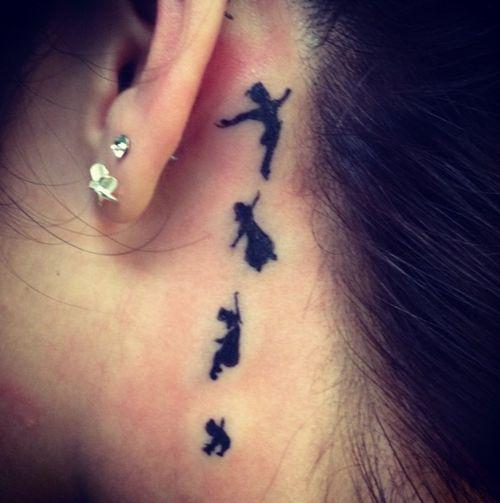 peter pan silhouette tattoos
