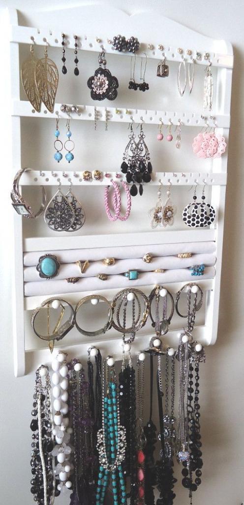 Jewelry Organizer, Ring Holder, Maple Hardwood, Cabinet Grade White Pa