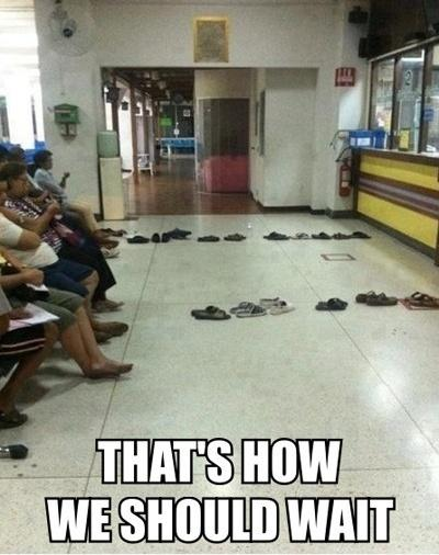 Waiting In Line , Laziness at its best