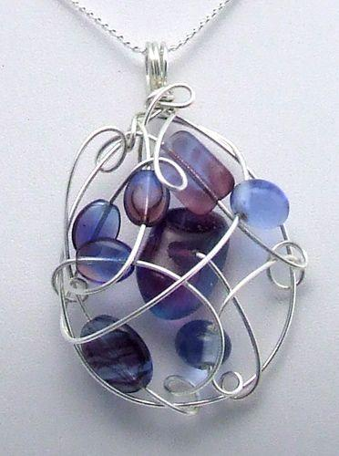 Wire pendant - I wonder if it was made free style or had a preconceive