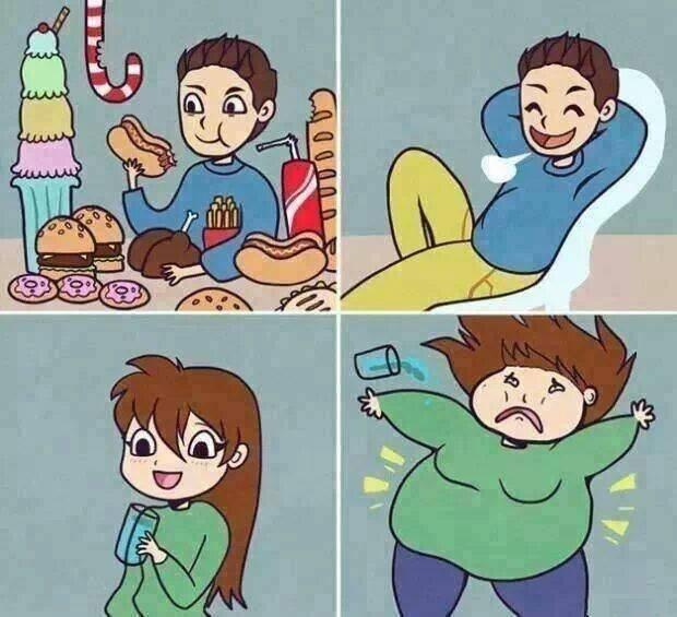 Boy Girl Eat Fact Funny