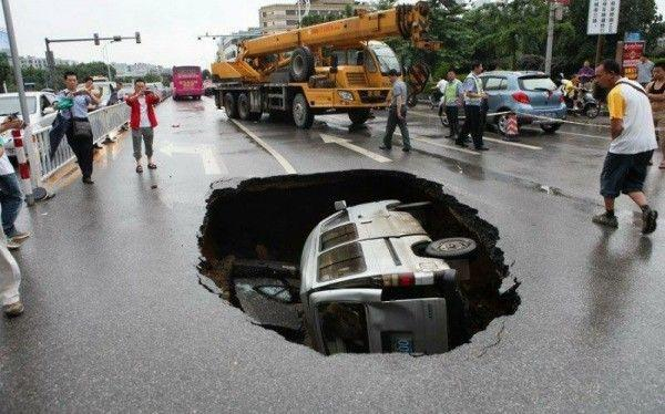 Road crushed