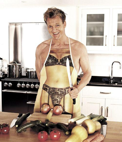 Perfectly arranging his vegetables for a naughty chef photo shoot.  33