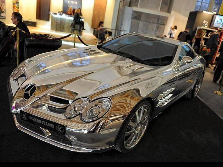 Pure White Gold Mercedes Benz