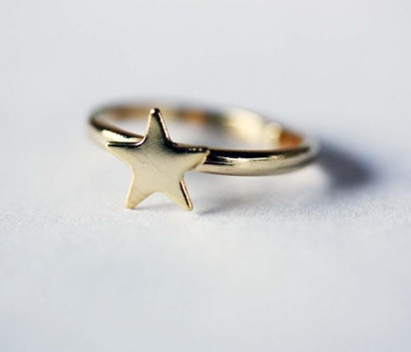 Tiny Gold Star Ring