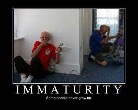 I will be like this when I grow old... Pity the old folks home.