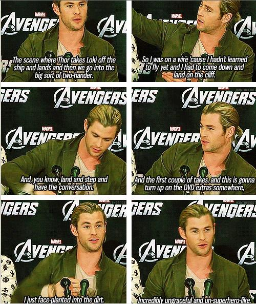 Chris Hemsworth (Thor) Funny Quotes