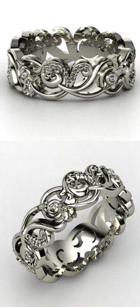 Sterling Silver Ring - Poseidon Band