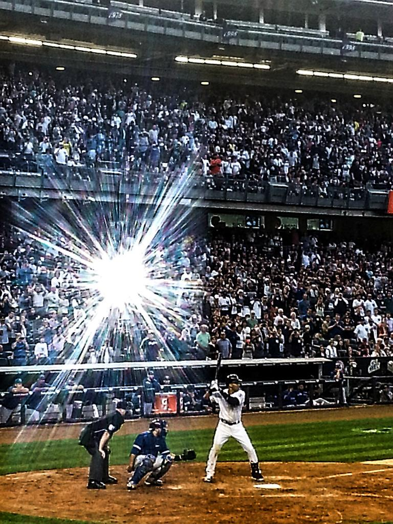 I took a picture of Jeter tonight at the exact moment someone else was
