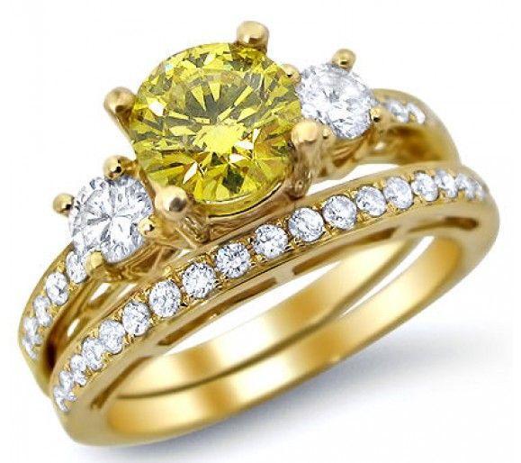 1.91ct Fancy Canary Yellow Round Diamond