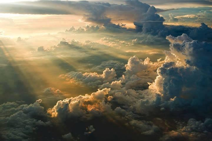 Awesome sunset over the clouds!