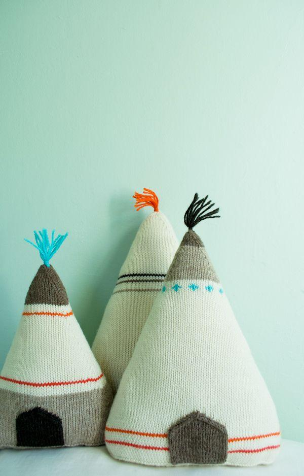 Whit's Knits Teepee Pillows - The Purl Bee