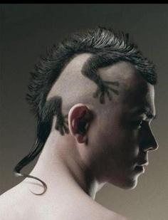 Best Lizard Mohawk Haircut Design