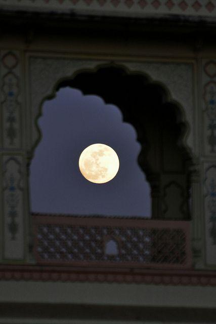 A view of the moon - Jaipur, India