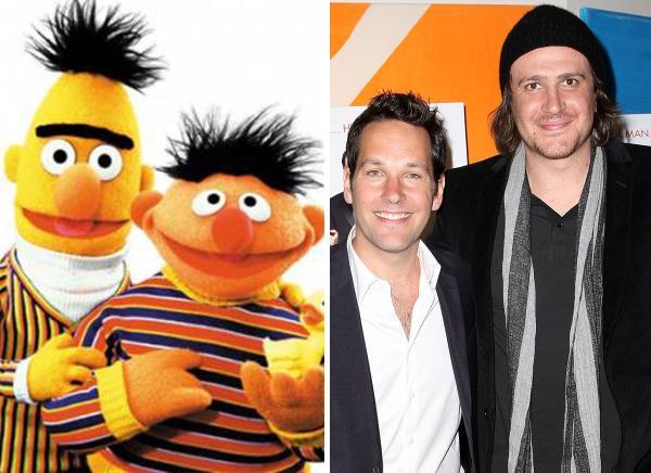 Bert & Ernie, Paul Rudd & Jason Segel