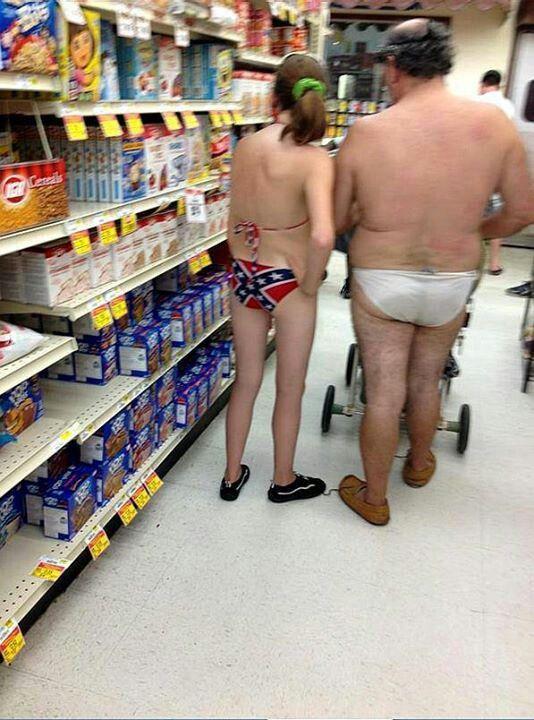 Walmart, way to wear that rebel flag