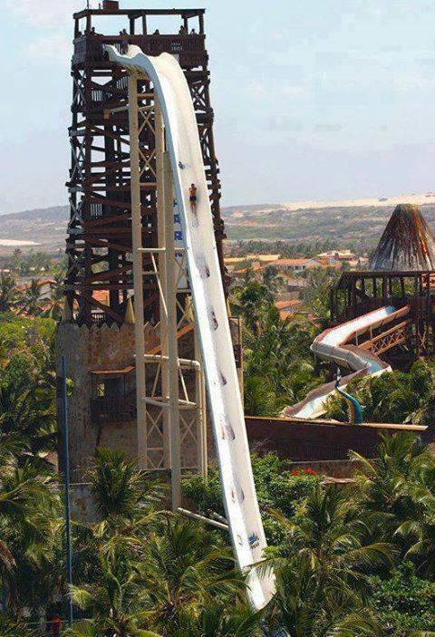 World's Tallest Water Slide, Insano at Fortaleza, Brazil... who dares
