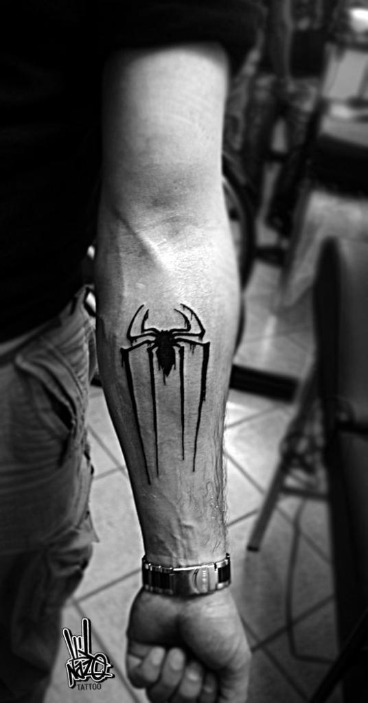 spiderman logo tattoo