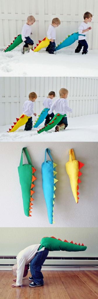 HOW TO dinosaur tail. ok, i don't pin kiddo things very often. but th