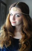 CHAIN HEADPIECE Head Chain, Vintage Head chain, headdress gypsy head p