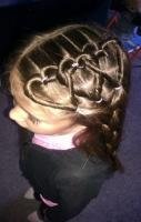 adorable hair style for a little girl- Valentine's Day hair