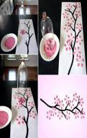 bottle painting wall art idea!