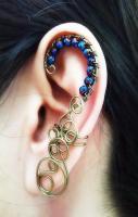 Ear Cuff Absinthe Arch Style Gunmetal Brass Ear Cuff