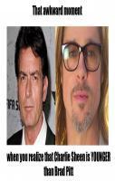 Charlie Sheen and Brad Pitt