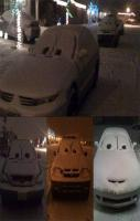 This would be funny to do this to all the cars on our street, would ha