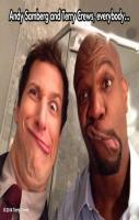Smiling for the picture…Andy Samberg Terry Crews
