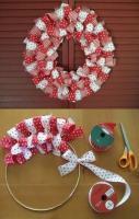 How to make Easy Ribbon Wreath DIY